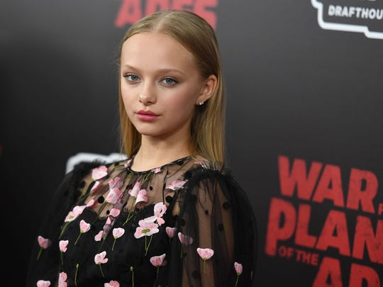 """Saturday: Amiah Miller in a Q&A after a 3:30 screening of """"The War for the Planet Of The Apes."""" Amiah Miller attends the 'War for the Planet Of The Apes' premiere at SVA Theater on July 10, 2017 in New York City. / AFP PHOTO / ANGELA WEISSANGELA WEISS/AFP/Getty Images"""