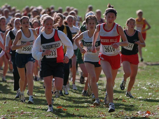 Haddonfield's Erin Donohue leads the pack at the cross