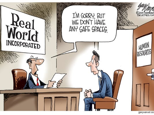 Cartoonist Gary Varvel: No safe spaces in real world