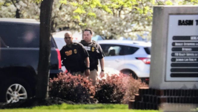 The Perinton offices of real estate developer Robert Morgan were raided early Monday, May 14, 2018, by FBI agents executing a court-ordered search warrant.