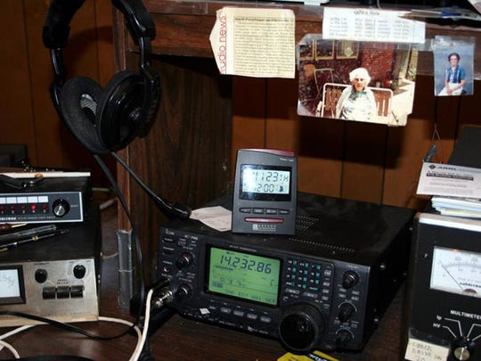 Dave Goggio of Bartlett, has a room in his home dedicated to his hobby as a ham radio operator.   File Photos by Kim Odom