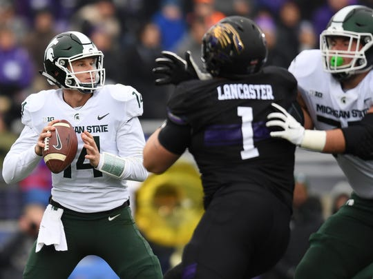 If Michigan State quarterback Brian Lewerke as he did last season, the Spartans will be a factor in the Big Ten East.