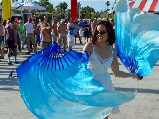 Scenes from Sunday's circus-themed T-Dance at the White Party in Palm Springs.