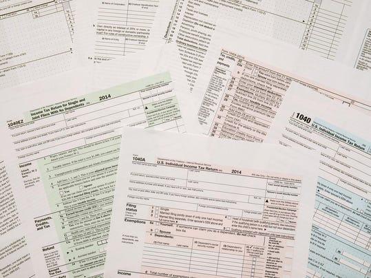 Tax Form 1040, close-up