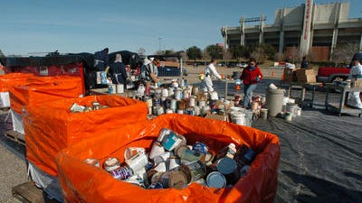 Paint, pesticides and pool chemicals are some of the items collected at the Household Chemical Day events.
