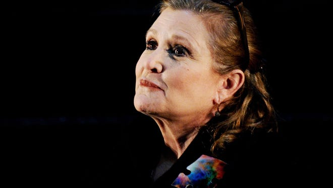 Actress and author Carrie Fisher.