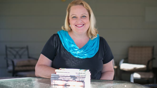 Author Amy Gamet at her home in Pittsford on Oct. 26, 2015.
