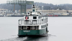 The Kitsap Transit passenger ferry Carlisle II heads from Port Orchard to Bremerton in 2018.