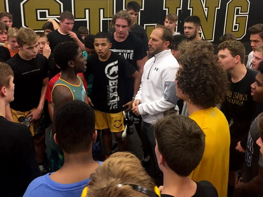 Red Lion's new wrestling coach Mike Catullo.
