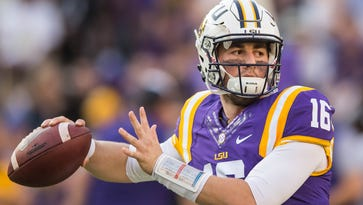 LSU QB Etling has his fastball back, and is throwing more naturally since back surgery