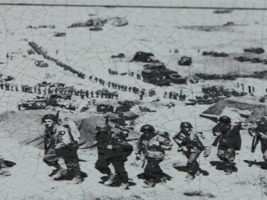 A scene from Omaha Beach.