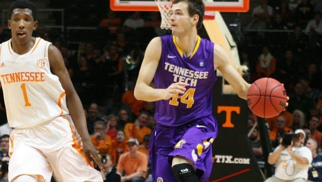 Tennessee Tech's Aleksa Jugovic is the OVC Freshman of the week.