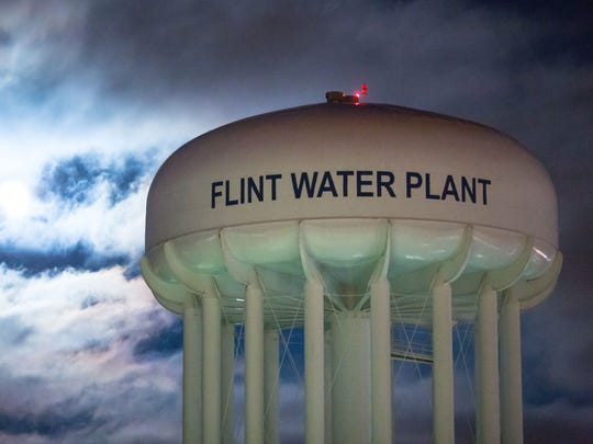 The City of Flint Water Plant is illuminated by moonlight on January 23, 2016 in Flint, Michigan. The Flint water crisis continues to prompt debate, this time about whether the statute of limitations for misconduct in office should be extended from six years to 10 years.