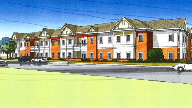 This artist rendering depicts what the exterior of Dow Rummel's planned expansion would look like.