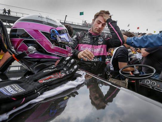 Meyer Shank SPM Racing IndyCar driver Jack Harvey (60)