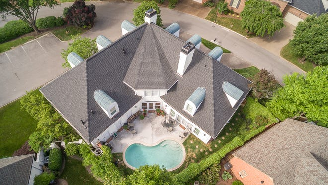 Aerial photography can make a stunning first impression when potential buyers see it online. This property at 105 Wellington Park Court in Nashville is on the market for $796,000.