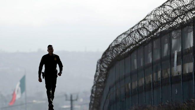 Border between San Diego and Tijuana, Mexico.