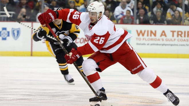 Tomas Jurco was traded from the Red Wings to the Blackhawks on Friday.