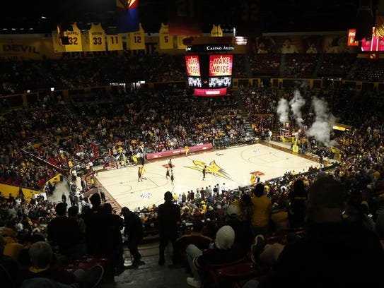 A packed Wells Fargo Arena on Dec. 22.