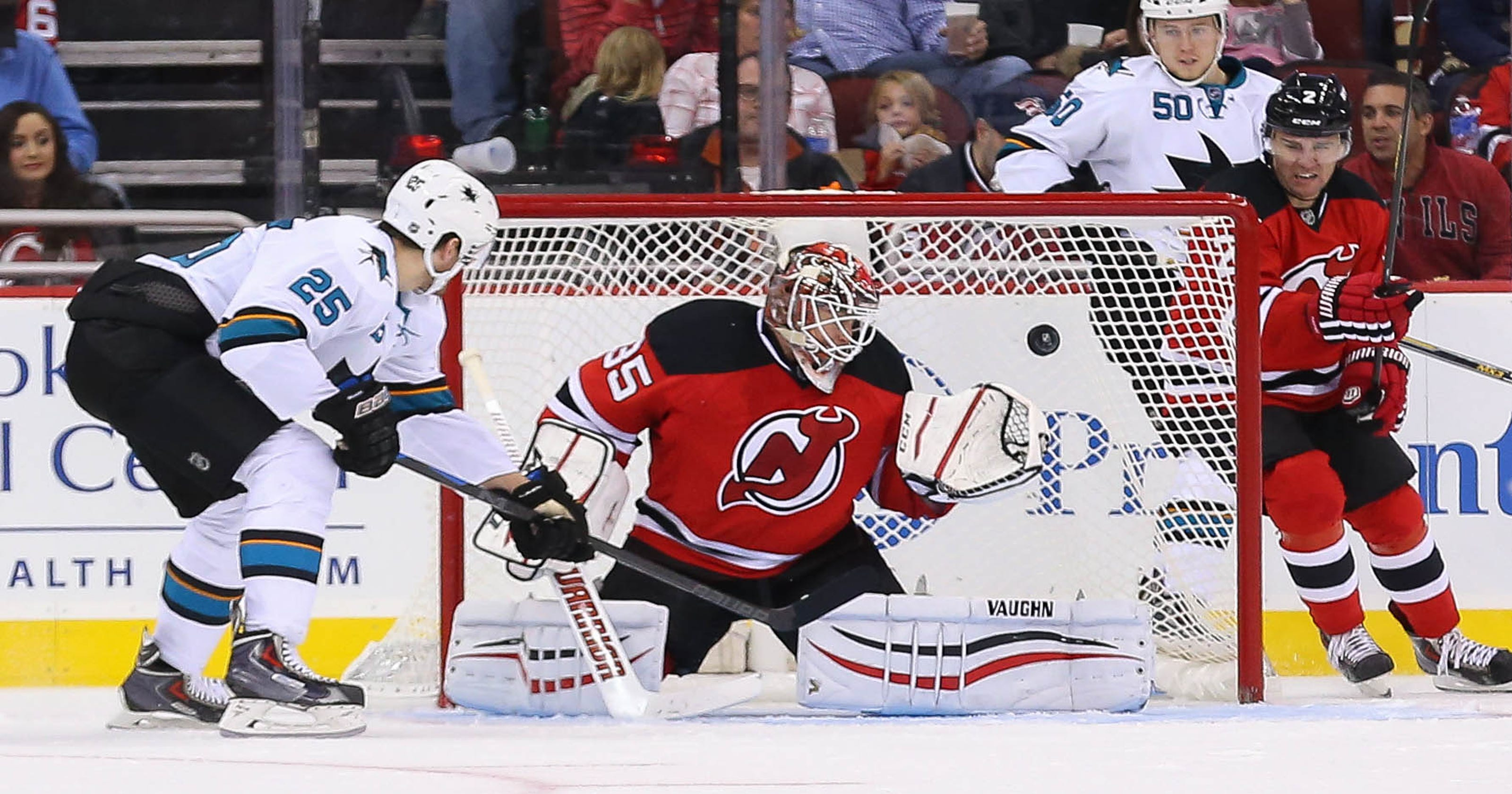 on sale 9a582 723f0 New Jersey Devils fall to San Jose Sharks