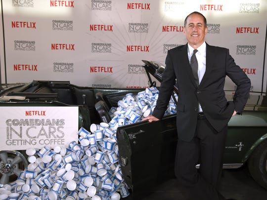 Jerry Seinfeld attends a premiere party for Netflix's