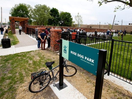 The Rose Dog Park was dedicated on Saturday, May 26,