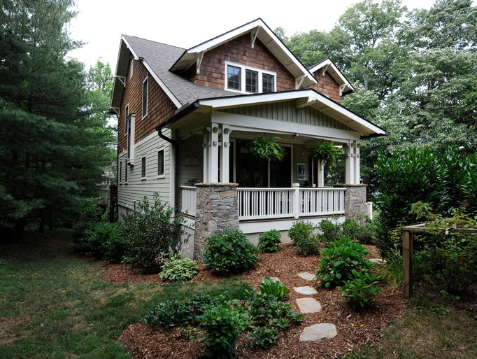 The craftsman style home of the Gance family in historic Montford.  07/08/14