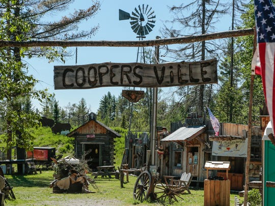 A sign made for the old west town known as Coopers