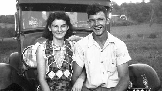 In this September 1941 photo, Kenneth and Helen Felumlee pose nearly three years before their marriage in February 1944.
