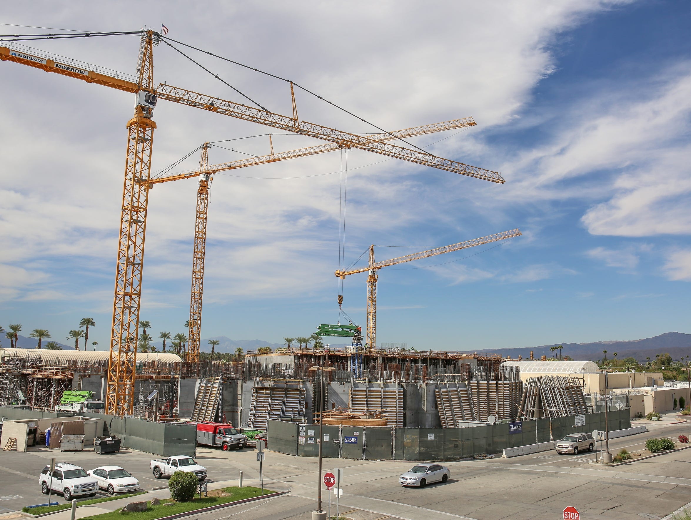 The new Indio jail, seen here under construction on