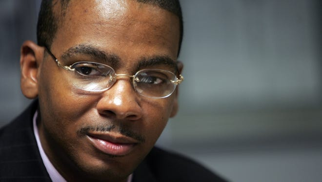 Dalton Roberson Jr., speaking with the Detroit Free Press during his campaign for a Detroit City Council seat in 2009.