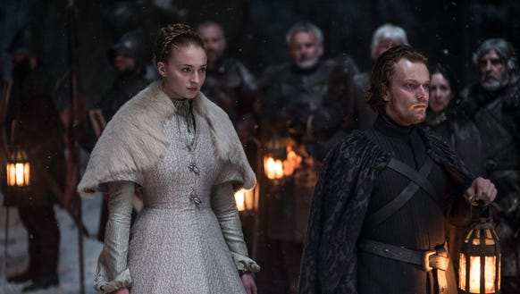 Sansa Stark and Theon Greyjoy in 'Unbowed, Unbent,