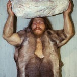 This Oct. 1996 file photo shows a replica of a Neanderthal man at the Neanderthal museum in Mettmann, western Germany.