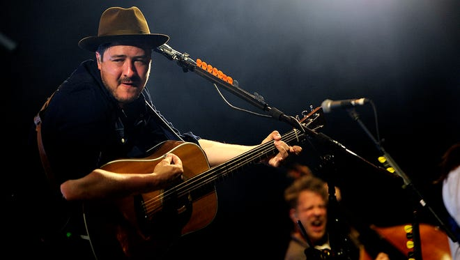 Marcus Mumford of Mumford & Sons performs at  Bonnaroo Music and Art Festival on Saturday, June 13, 2015.