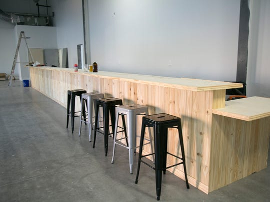 Palm City Brewing Company's bar is under construction. They hope to be open this spring.