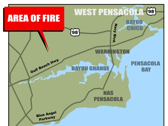Location of wildfire