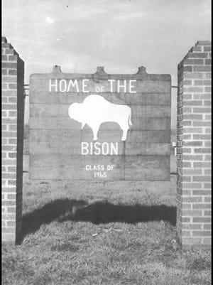 Original sign, from 1971 Buffalo Gap yearbook