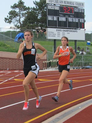 Jenna Sica (16) made All-State in two events at the 2016 state track and field meet.