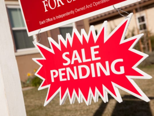 story pending home sales march