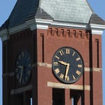 Courthouse clock tower, downtown Howell  Photo by ALAN WARD / DAILY PRESS & ARGUS