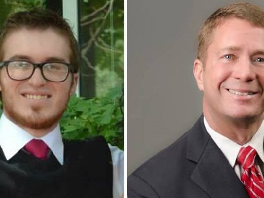 Andrew Layne Lowry, left, and Jeffrey D. Roberts are