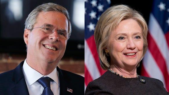 Jeb Bush and Hillary Clinton.