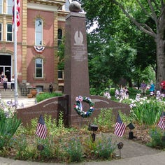 Legacy of military service honored by court square memorials