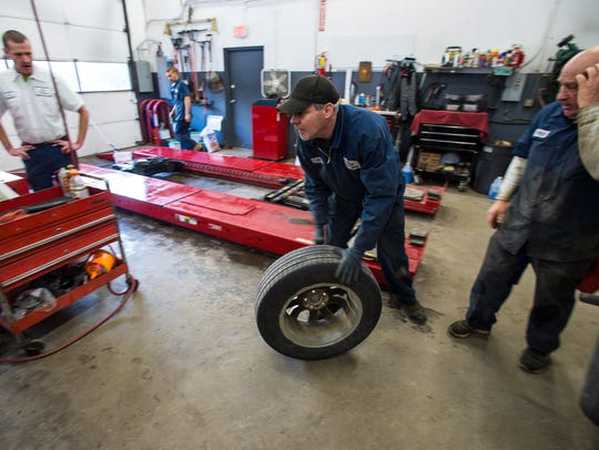 Jim Scouten, shop foreman at Partner Tire in Colchester,