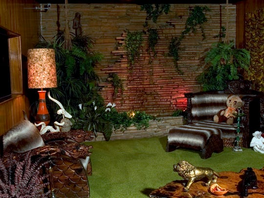 The Jungle Room in Graceland is a testament to the whimsical nature of Elvis. He bought all of the furnishings for the room in less than 30 minutes. He was in the mood for a little Hawaii. In 1975 Graceland was extensively refurbished while Elvis was dating Linda Thompson. The Jungle Room came to be in 1975. The Jungle Room became a makeshift studio for Elvis on July 29-30, 1976.