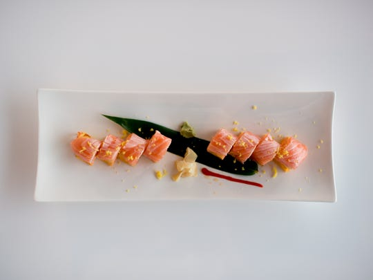 The salmon zest sushi roll is among the options at Tao Asian Cuisine.