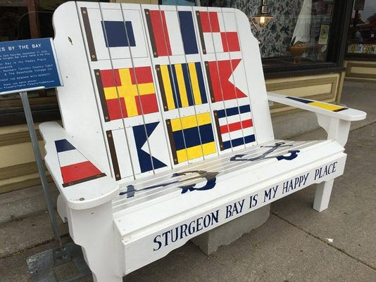 dcn 0914 sturgeon bay harvest fest bench 1