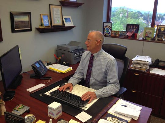 Mahwah Police Chief James Batelli in his office.