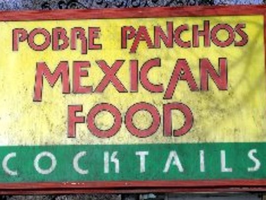The sign at Pobre Panchos in Fort Collins.