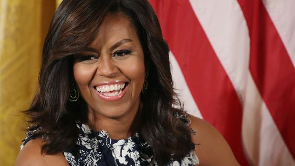 First Lady Michelle Obama holds an event at the White